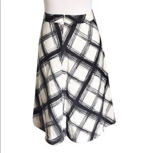 NEW Banana Republic Plaid 100% Silk Circle Skirt